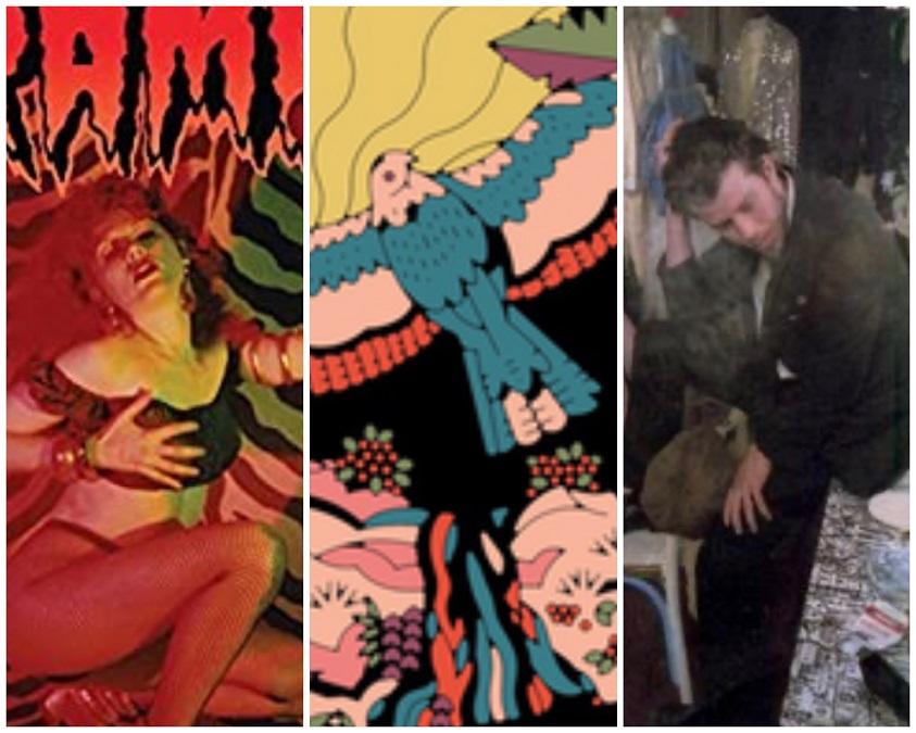 The Cramps, Tom Waits, Khruangbin album covers
