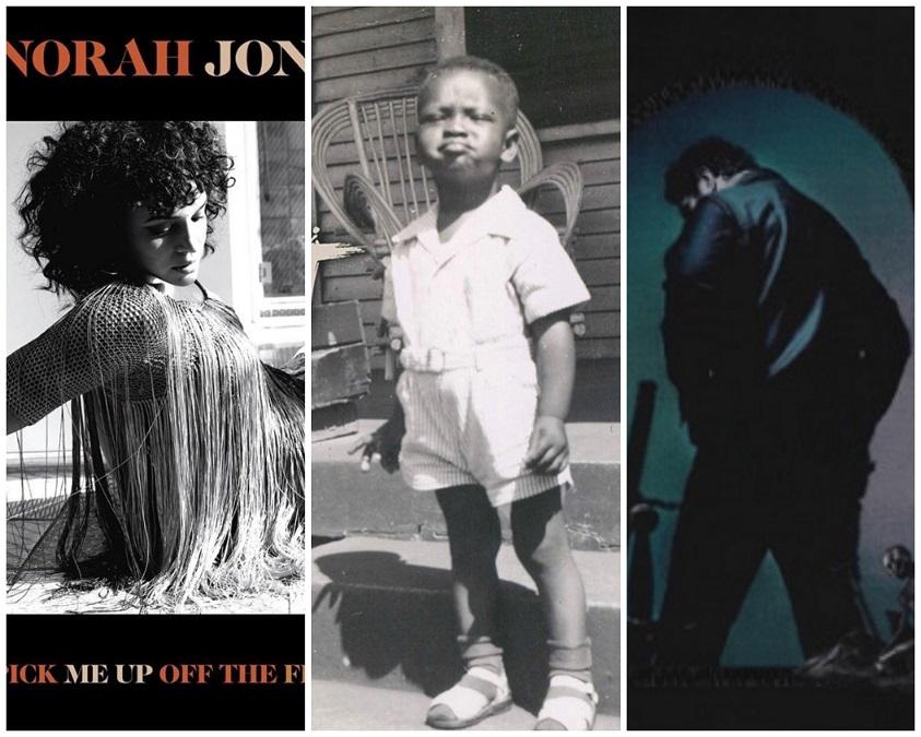 norah jones, booker t. jones, post malone album covers