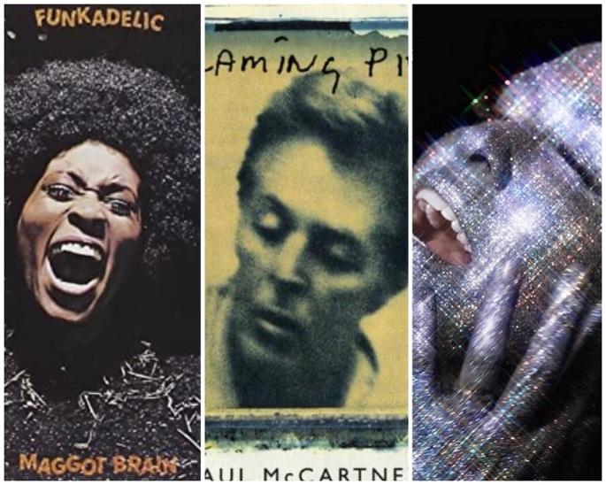 funkadelic, paul mccartney, alanis morissette album covers