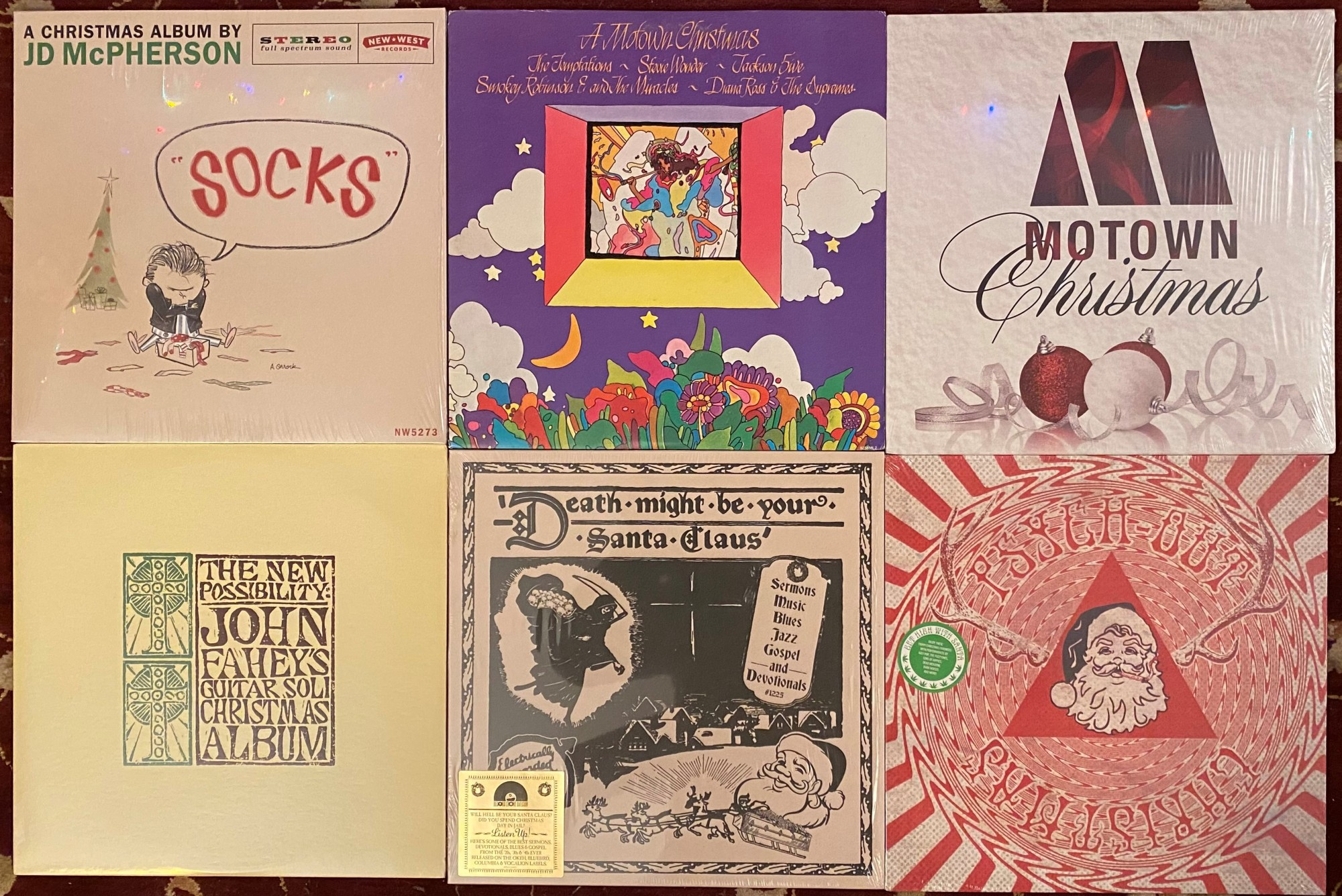 Christmas record covers